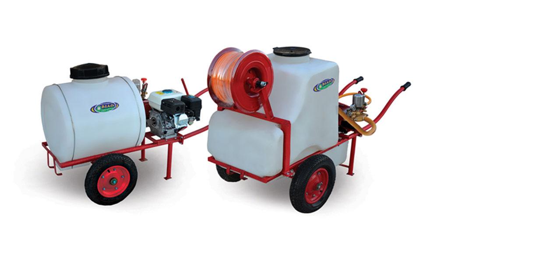 سمپاشهای 100و200 لیتری چرخدار موتوری